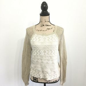 Rachel Rachel Roy Small Shirt Beige Knit Long